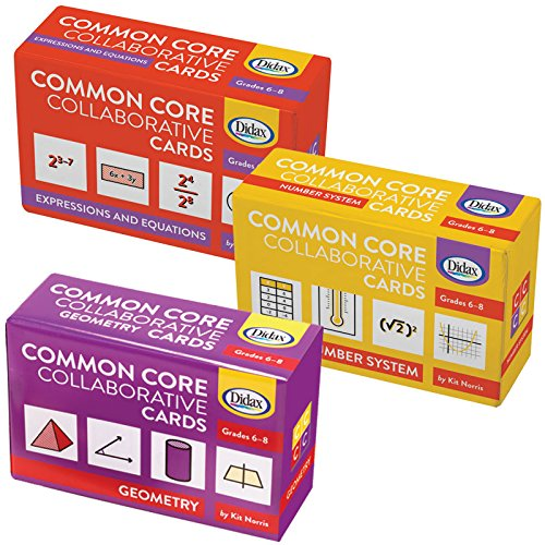 Didax Educational Resources Children's Common Core Grade 6- 8 Collaborative Card Set