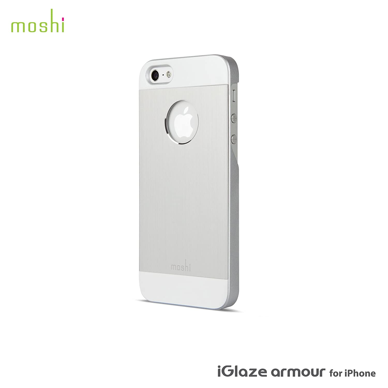 hot sales 1d092 e728a Moshi iGlaze Armour Premium Aluminum Case for iPhone 5 - Silver