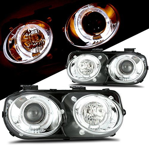 - Scitoo Package Chrome Housing/Clear Lens Projector Headlight with Halo fit 1998-2001 Acura Integra Pair Set