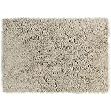 Eurow Microfiber Non Slip Chenille Bath Mat   Light Beige
