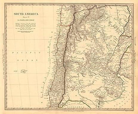 Amazoncom SOUTH AMERICA La Plata Chilé Chile Argentina - Argentina map vintage