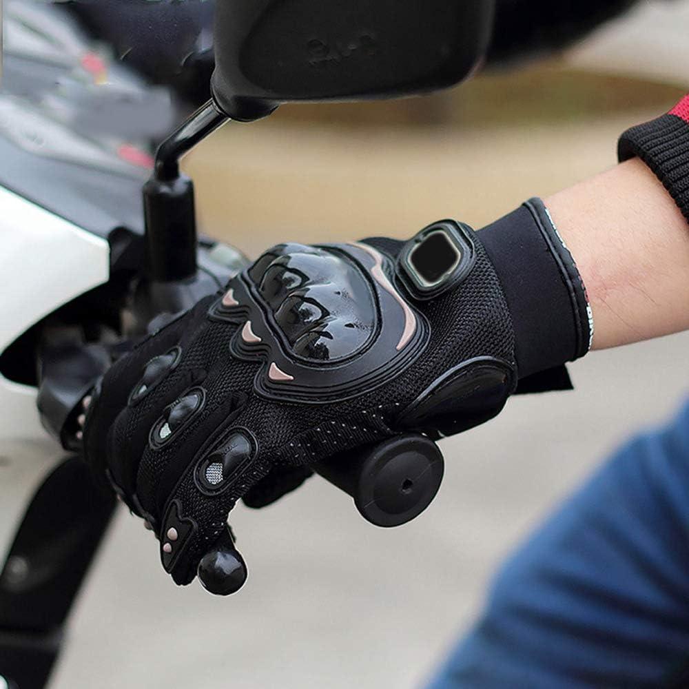 Semoic Press Screen Leather Motorcycle Gloves Motocross Gloves Gear Moto Biker Racing Hard Knuckle Full Finger Glove Mens L