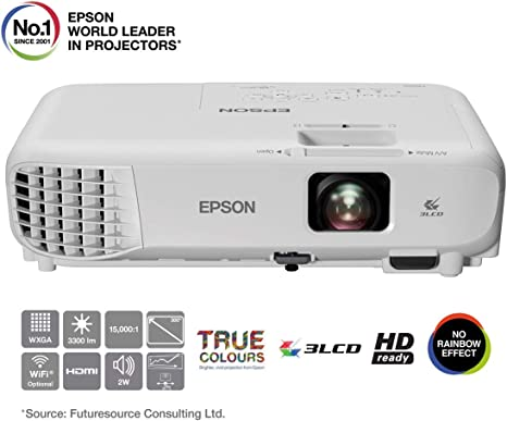 Epson W05 WXGA 3LCD (WXGA 1280 x 800 Pixels, 3300 Lumens ...