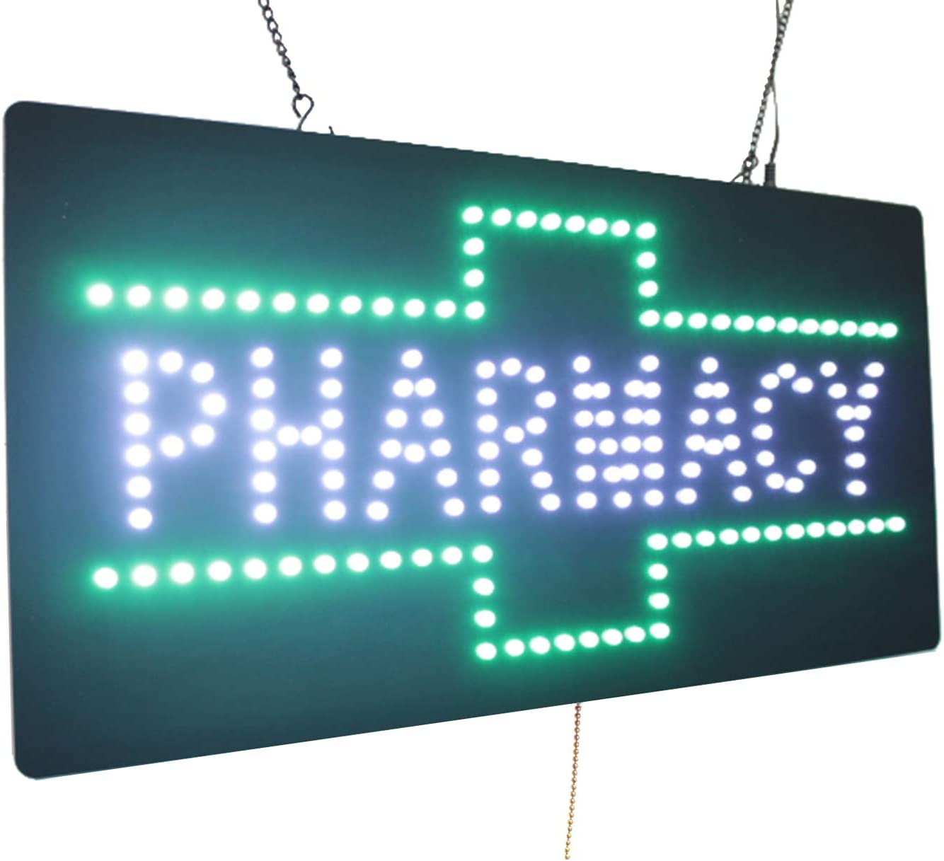 Amazon.com : Pharmacy Sign, TOPKING Signage, LED Neon Open ...