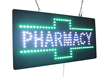 Amazon.com : Pharmacy Sign, Super Bright LED Open Sign ...