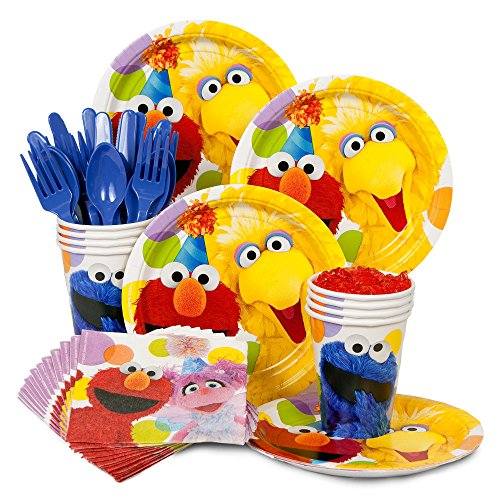 [Sesame Street Birthday Party Supplies Standard Kit for 8] (Halloween Sesame Street)