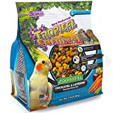 F.M. Brown's Tropical Carnival Zoo-Vital Cockatiel & Lovebird Pellet Daily Diet with Probiotics for Healthy Digestion, 2-lb Bag - Grain-Free, Rice-Based Formula, 100% Edible, Prevents Selective Eating