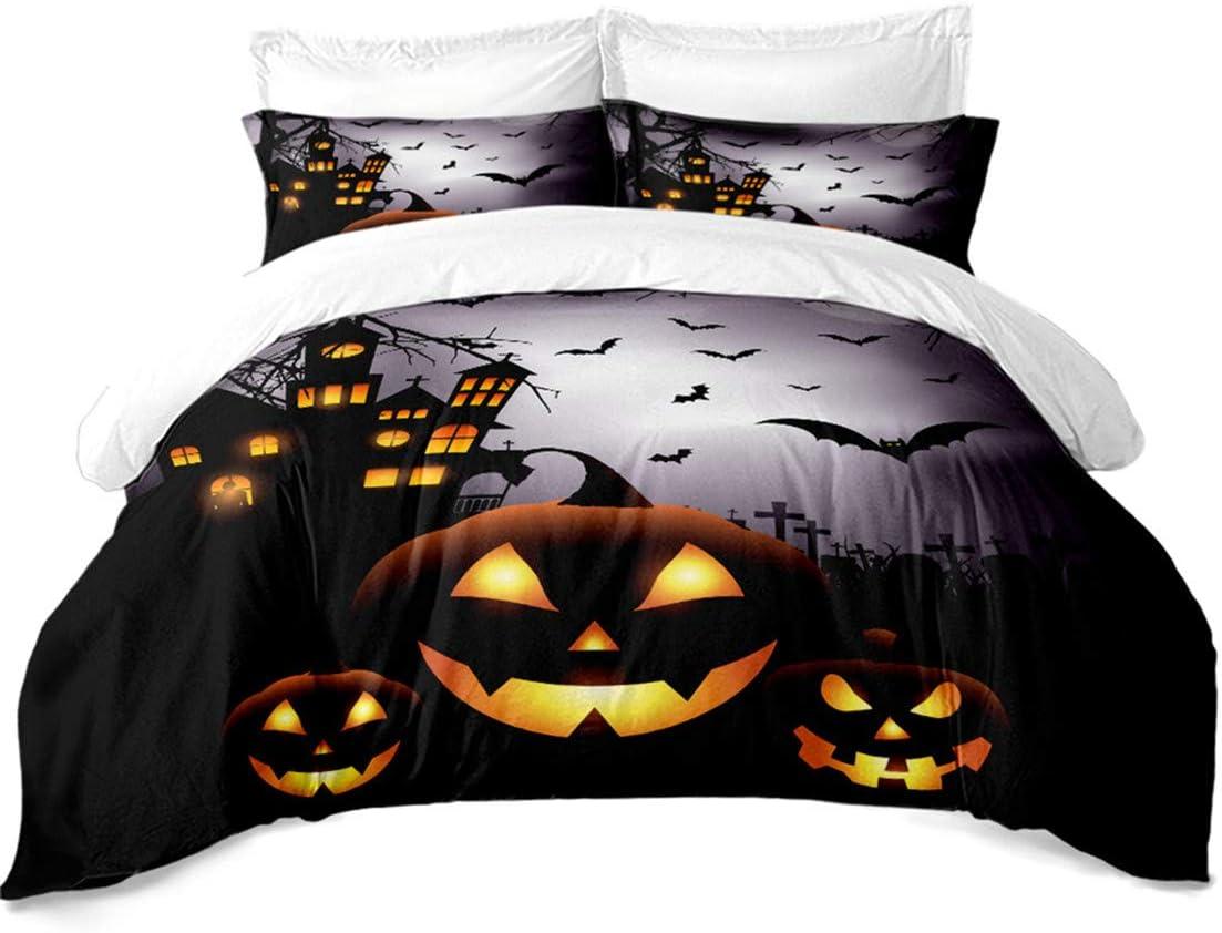 3D Halloween Grim Reaper Kids Bedding Set Duvet Cover Pillowcase Quilt Cover Set