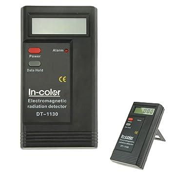 Detector de radiación electromagnética LCD para electrodomésticos, color negro y rojo, 5 cm: Amazon.es: Bricolaje y herramientas