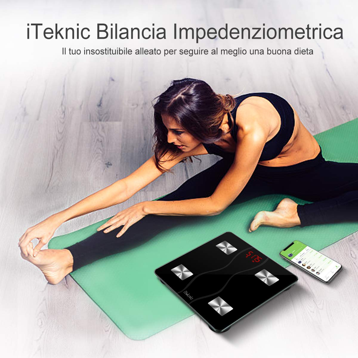 iteknic bilancia impedenziometrica  Bilancia Impedenziometrica iTeknic Bilancia Pesa Persona Digitale ...