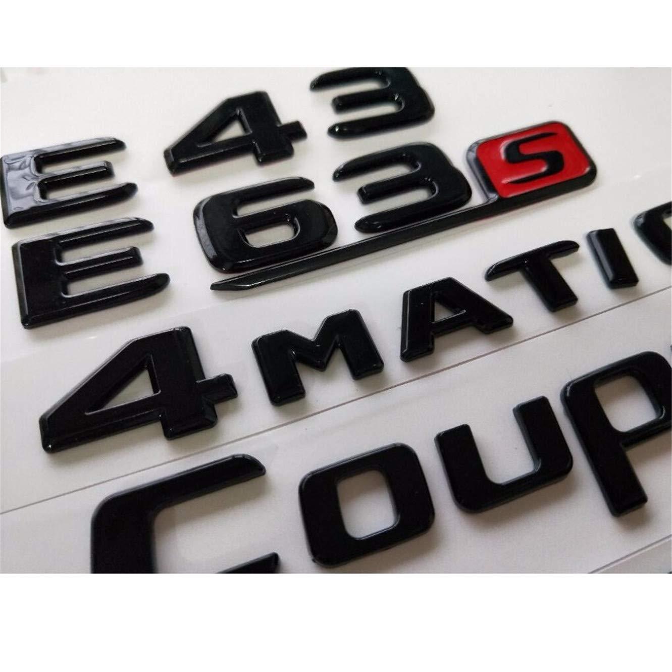 GLE63S Letter Trunk Emblem Rear Badge Sticker Mercedes Benz AMG GLE 63 GLE63 S