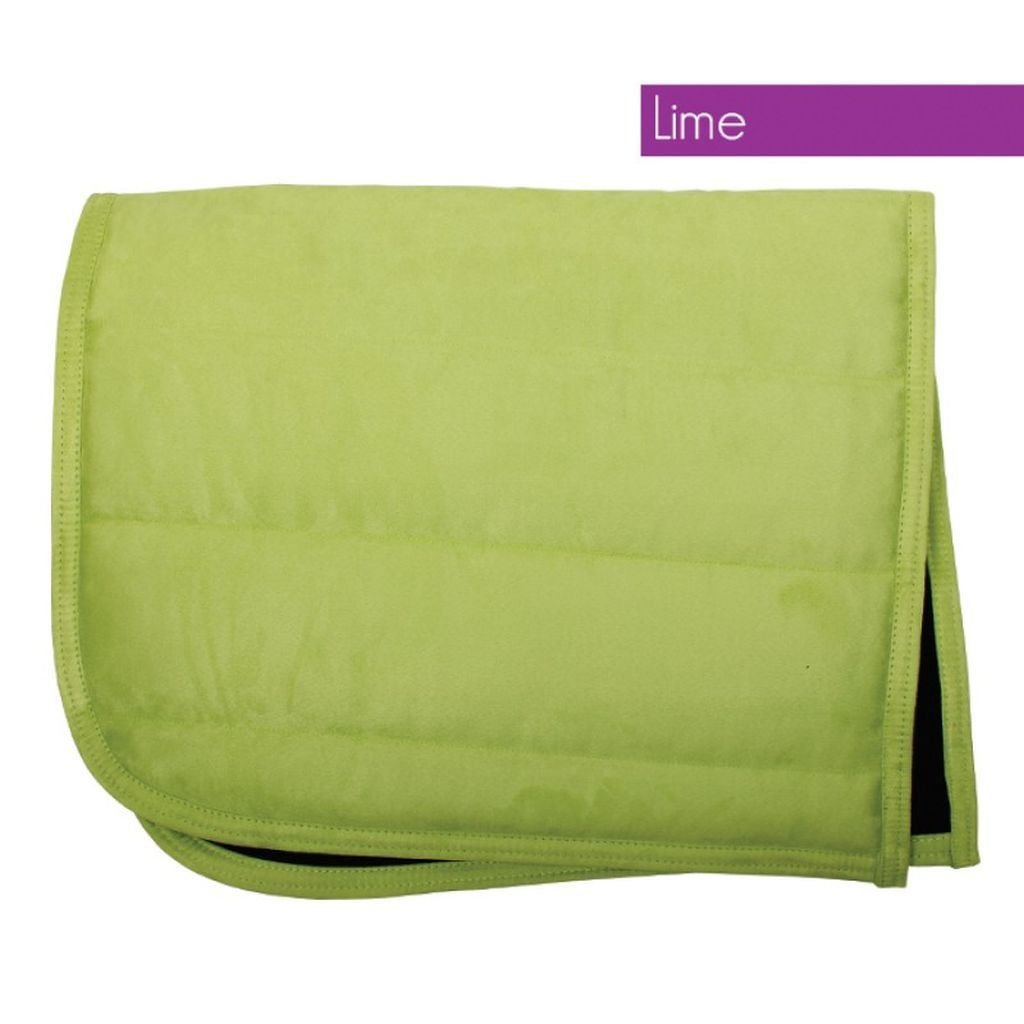 QHP Puff Saddle Pad Pony Lime