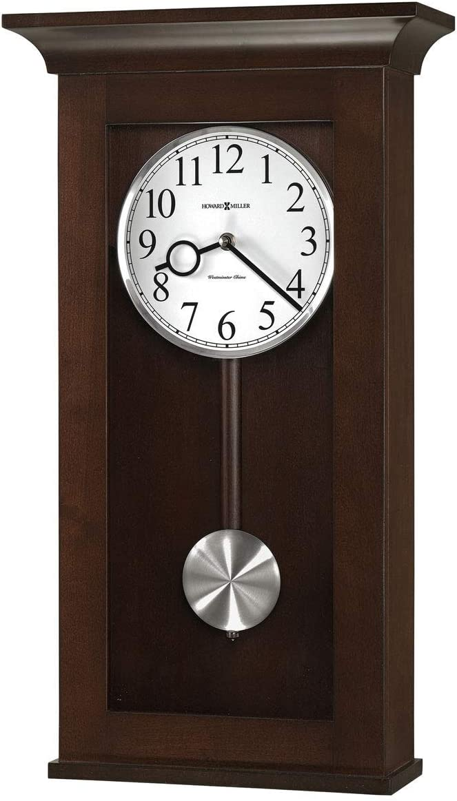Howard Miller BRAXTON Wall Clock, Black Coffee