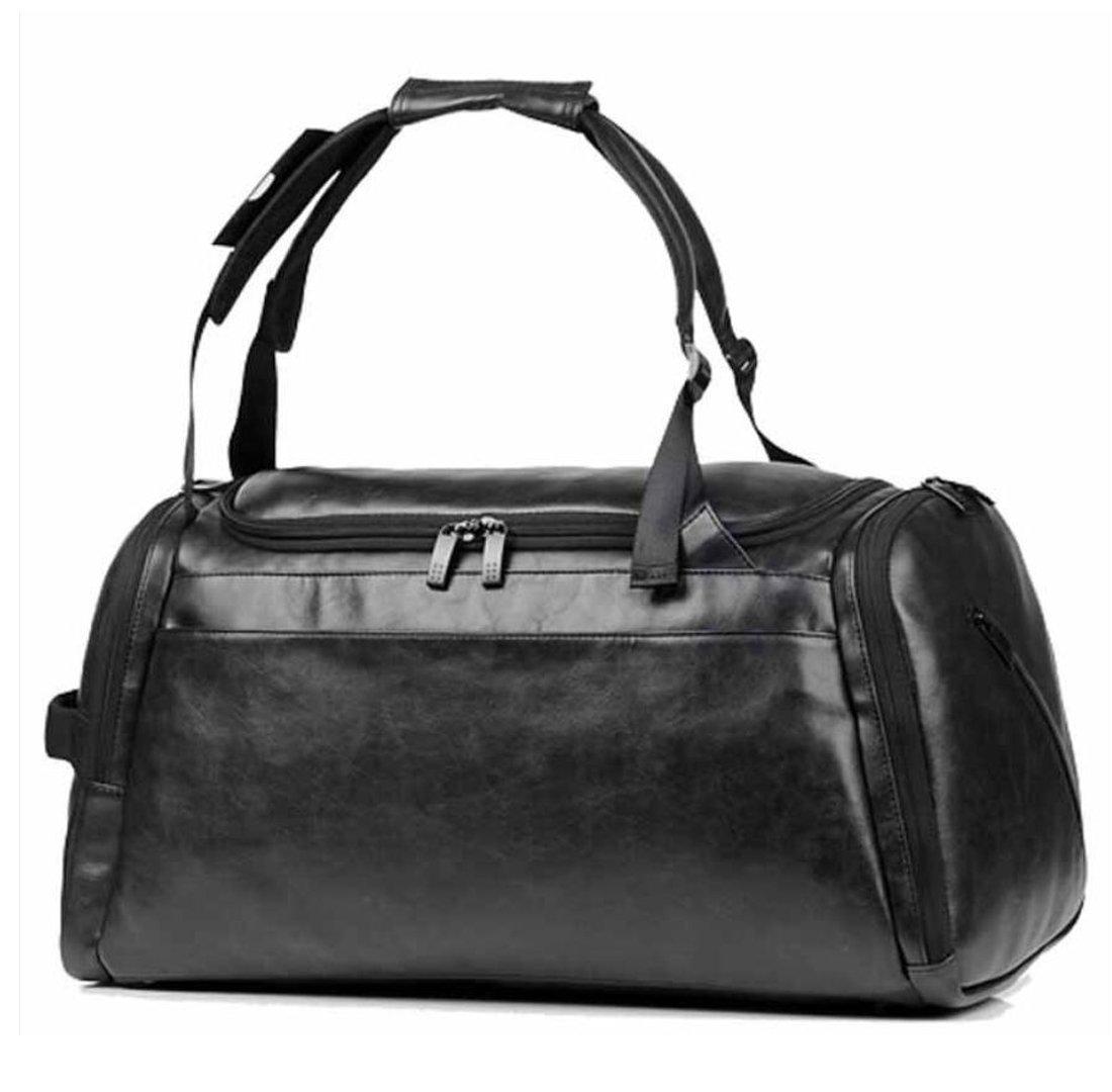 b6022e458f Amazon.com  MUZI New Leather Travel Bag Handbag Sports Bag Fitness Bag  Travel Shoulder Bag Travel Bag Large Capacity 20 To 35 Liters.