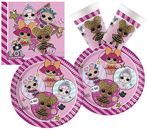Procos 10133068 L.O.L. – Juego de Accesorios para Fiesta de cumpleaños Infantil Surprise, Multicolor