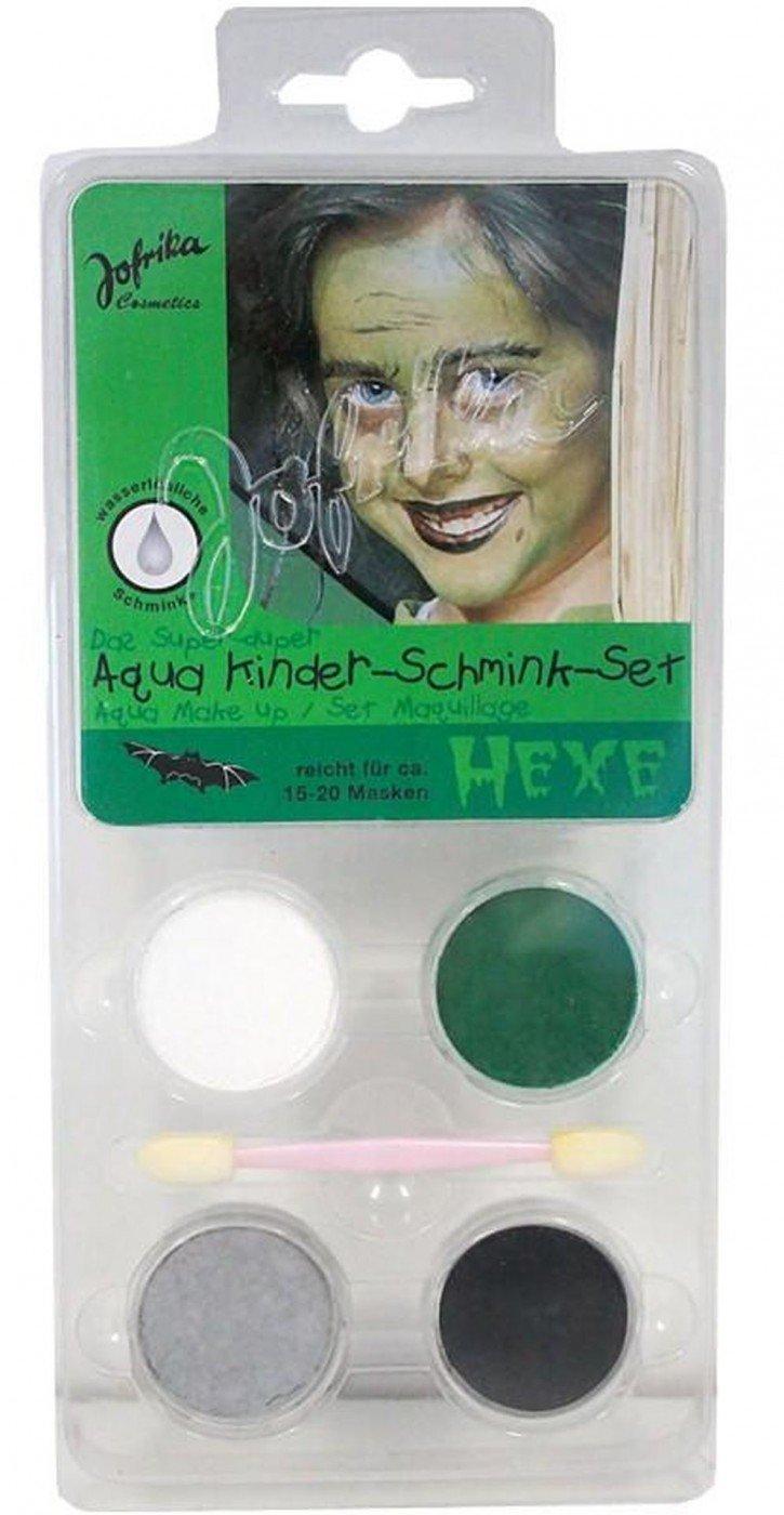 Schminkset Hexe Hexenschminkset für Hexen Makeup Schminke Halloween Karneval Fasching Jofrika