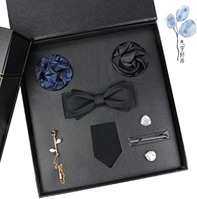Men'S Ties Pocket Squares Men'S Tie Pins Bow Tie Suit Gift Box Formal  Business Birthday Present To Groom Boyfriend Friend Husband Married:  Amazon.co.uk: Clothing