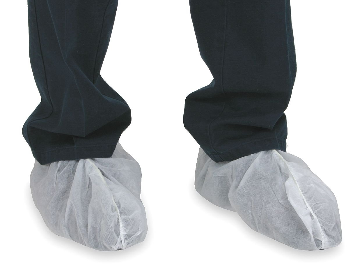 CONDOR 2RUZ2 Low Disposable Shoe Cover, White, PK 50