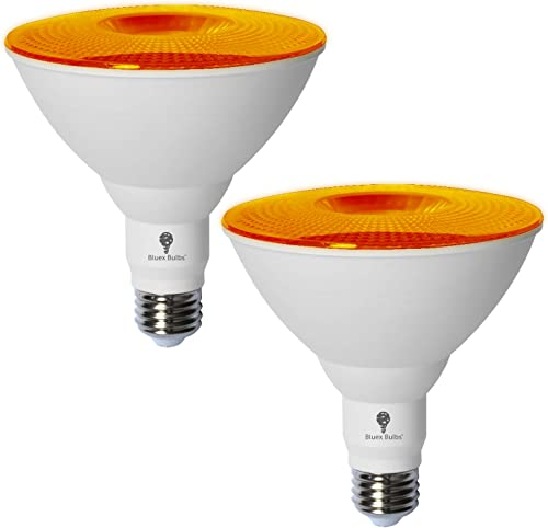 2 Pack BlueX LED Par38 Flood Orange Light Bulb