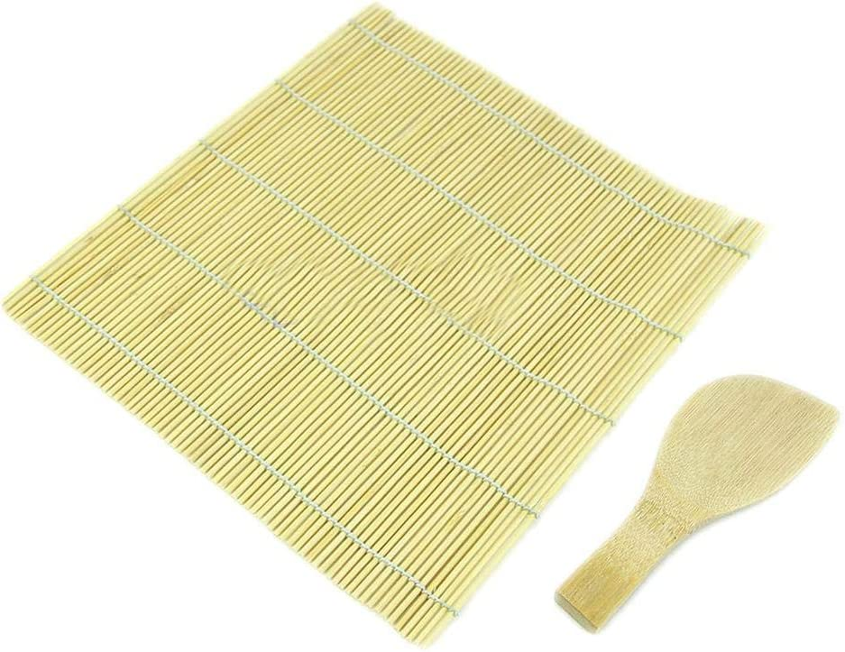 NAYUKY Sushi Rolling Maker Bamboo Roller Diy Mat And Rice Paddle