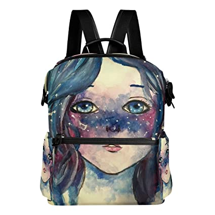 Image Unavailable. Image not available for. Color  Backpack Galaxy Girl  Cute Womens Laptop Backpacks Hiking Bag Travel Daypack 3ba19748a5dd2