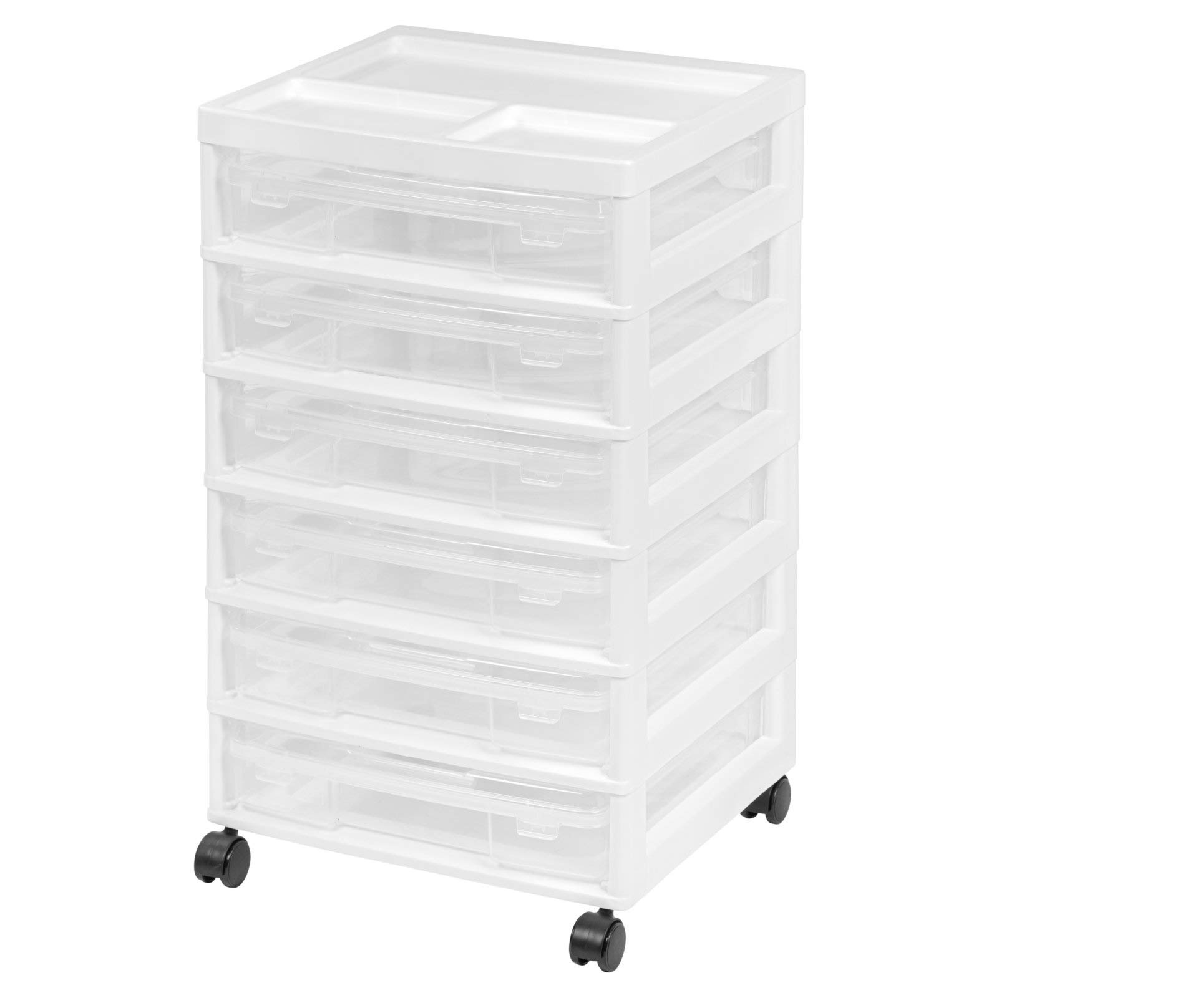 IRIS 6-Case Scrapbook Storage Cart, White