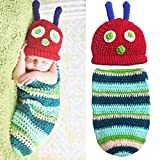 Babe Mall Inc Fashion Unisex New-born Boy Girl Crochet Knitted Baby Outfits Costume Set Photography Photo Prop-Caterpillar