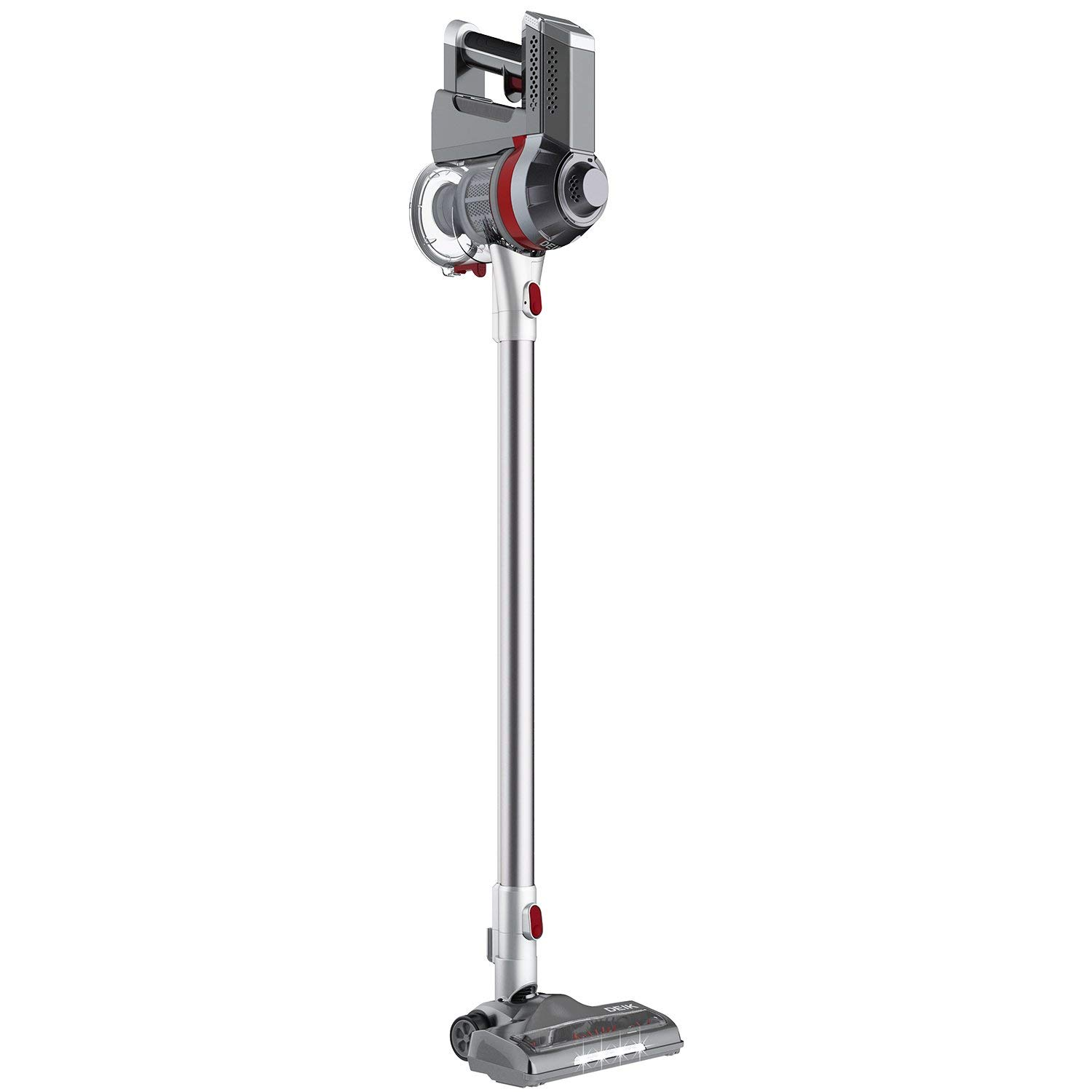 Deik Cordless Vacuum Cleaner, Stick and Handheld Vacuum with Powerful Suction & Wall-Mount Silver   by Deik