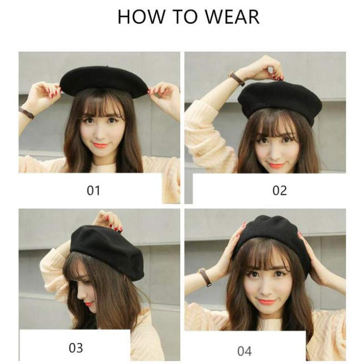 FLAMINGO/_STORE Wool Beret Female Winter Hats for Women Flat Cap Knit 100/% Cashmere Hats Lady Girl Berets Hat Female Bone Tocas Painter Hat Navy Blue