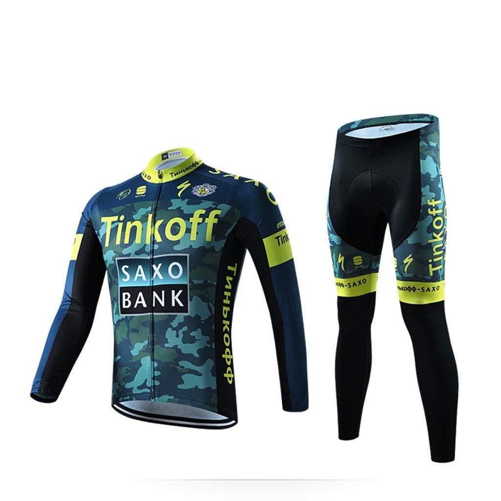 Lilongjiao Langärmelige Jersey-Klage-Männer Frühling und Herbst-Sommer-Radfahren-Hemd-Fahrrad-Kleidungs-Hosen-Klage-Sportkleidung