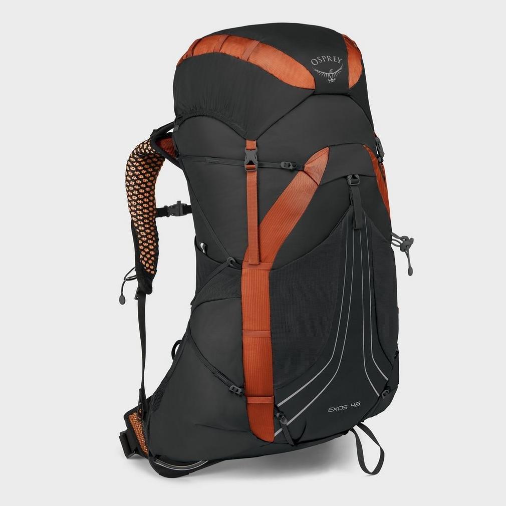 Osprey Packs Exos 48 Backpacking Pack, Blaze Black, Large