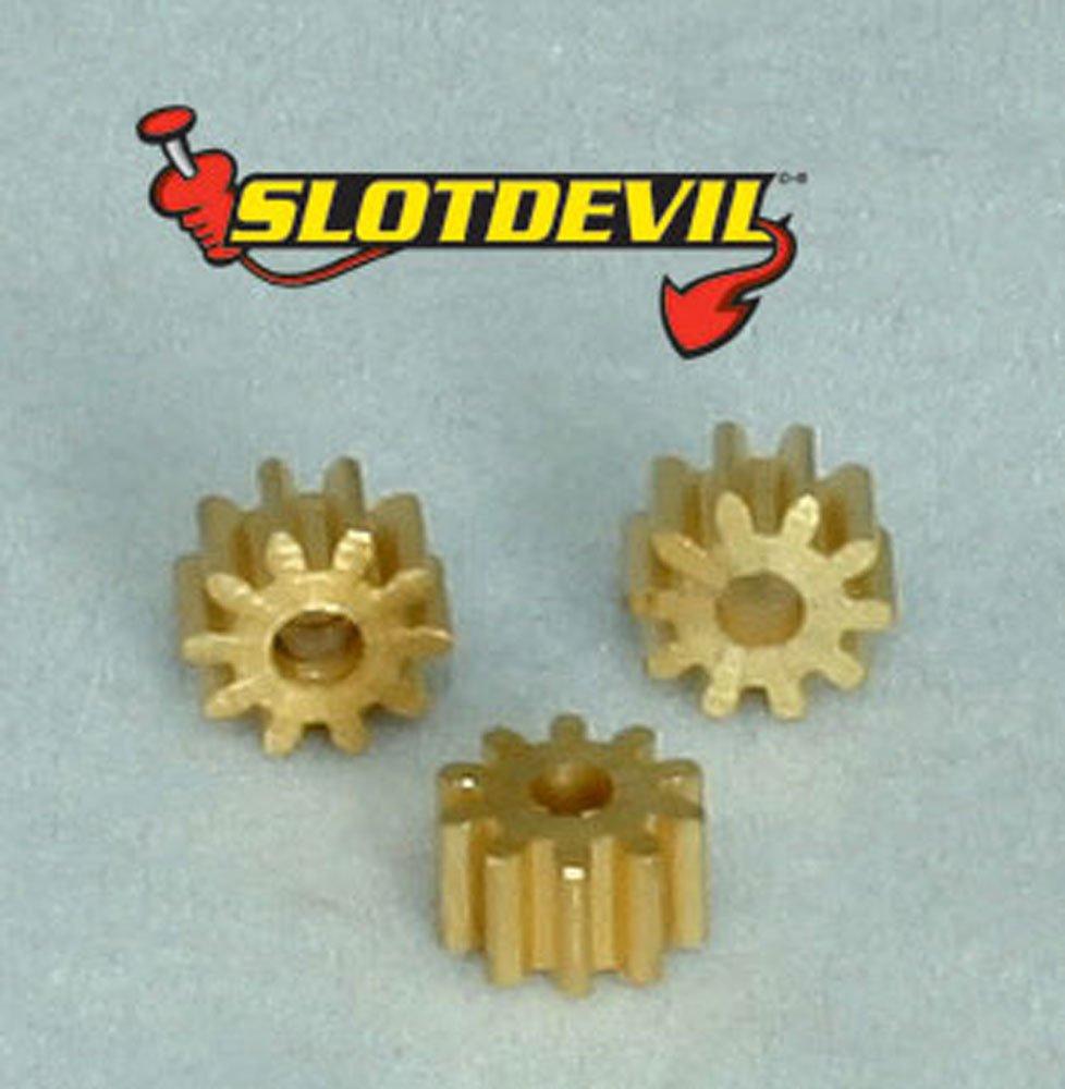 Slotdevil Messing Motorritzel 10 Zähne M50 für 2 mm Motorwelle (3 Stück) Axel Umpfenbach 20250310
