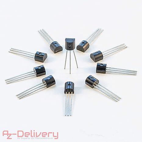 AZDelivery 10 x DS18B20 Sensor de Temperatura Digital TO92-55°C: Amazon.es: Electrónica