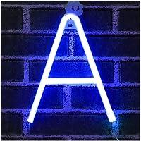 Azul Letreros de neón Luz nocturna Luces LED de marquesina Arte de neón Luces decorativas Decoración de pared para niños…