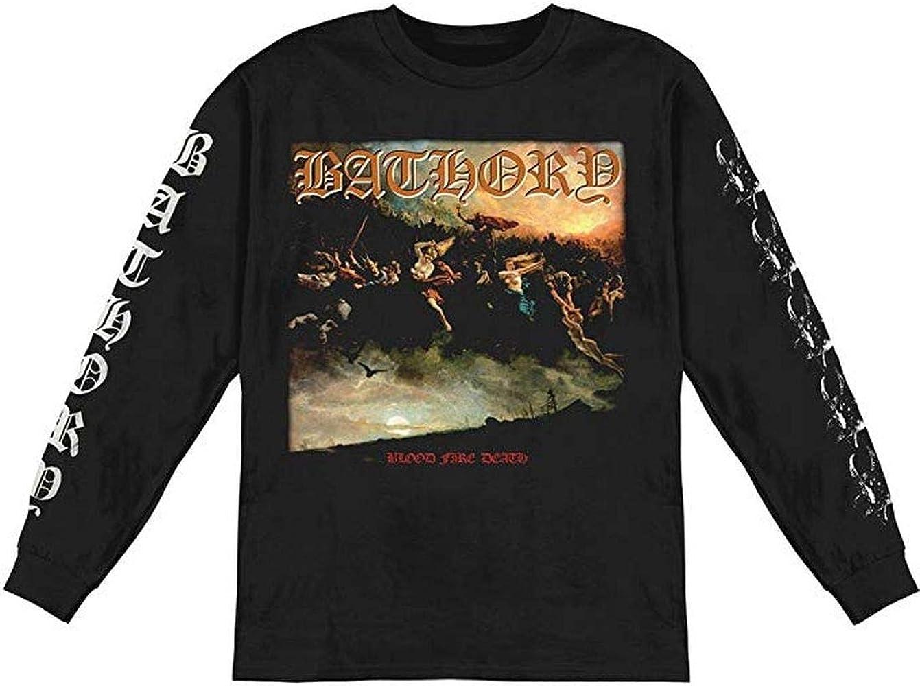 ill Rock Merch - Camiseta - Hombre de color Negro de talla Small - Ill Rock Merch Bathory - Blood Fire Death Long Sleeve (Camiseta) (Small) - Nero: Amazon.es: Ropa y accesorios