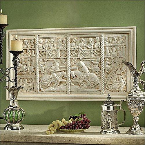 Design Toscano The Medieval Joust Sculptural Wall Frieze