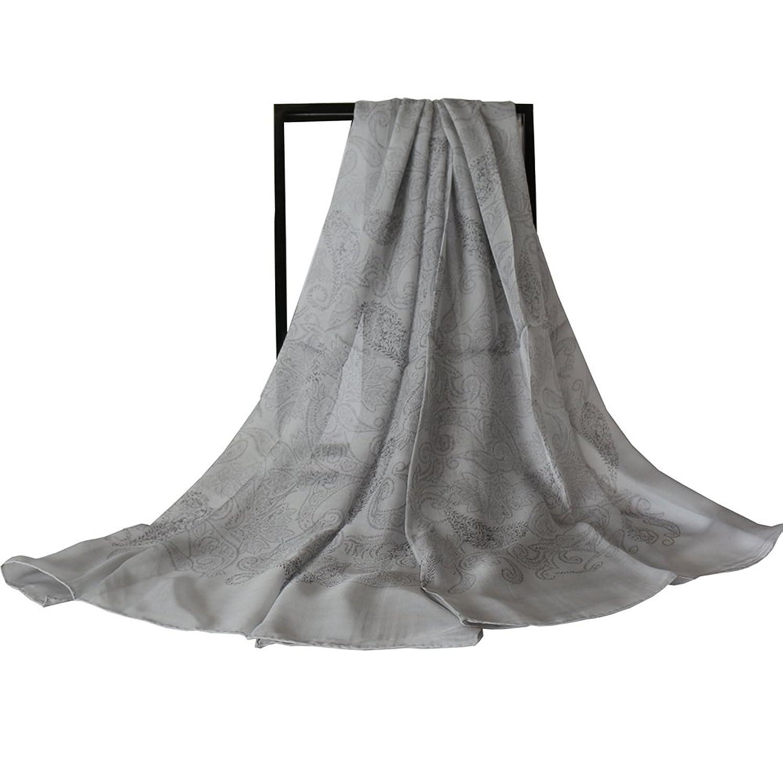 "TAIHU SNOW 100% Silk Chiffon Long Scarf 43""X70"" Silk Sheer"
