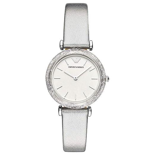 e4f9435126b8 Emporio Armani Reloj Analógico para Mujer de Cuarzo con Correa en Cuero  AR11124  Amazon.es  Relojes