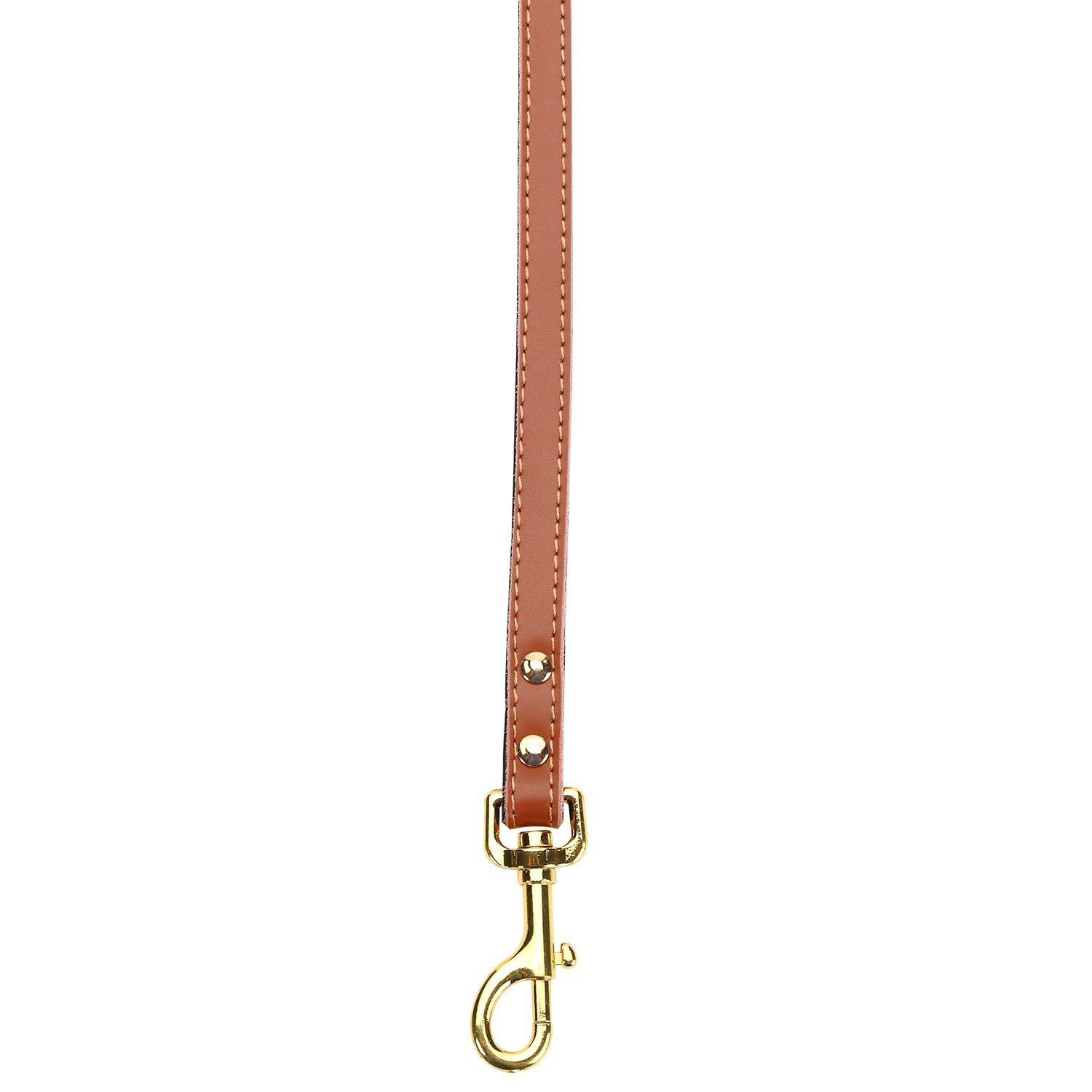Petween Basic Classic Leather Pet Leads Leashes for Cats Puppy Small Medium Dogs