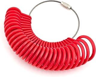 Korliya, calibri in plastica per anelli con tutte le misure, kit per gioiellerie