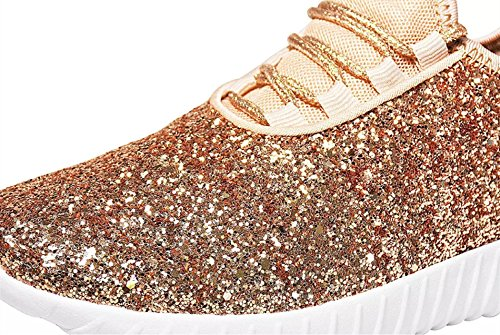 09575141e57f Amazon.com | Forever Link Remy-18k Kids Todddler Girls Fashion Sneaker  Glitter Flat Lace Up Shoes | Sneakers