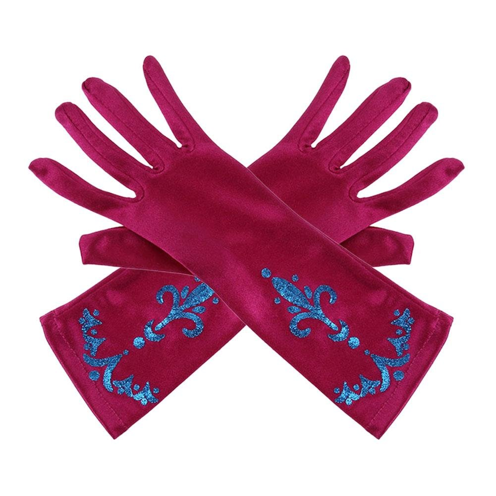 Domybest 1pair Queen Princess Magic Glove Girls Satin Gloves Role Play Toys Birthday Christmas Gift