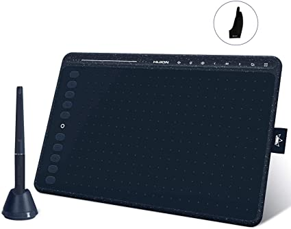 2020 HUION HS611 Blue Graphics Drawing Tablet Android Support with 8 Multimedia Keys BatteryFree Stylus 8192 Pressure Sensitivity Tilt 10 Press Keys f at Kapruka Online for specialGifts