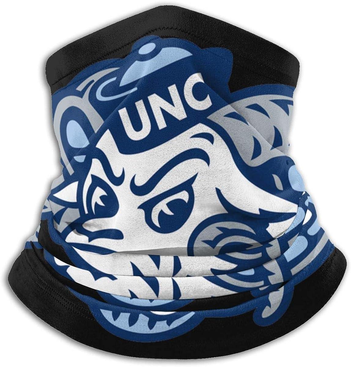 North Carolina Tar Heels Neck Gaiter Masks Breathable Sport Workout Yoga Outdoor face Nose Covers for Men Women