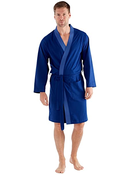 harvey james Mens Robe Dressing Gown Kimono Cotton at Amazon Men\'s ...