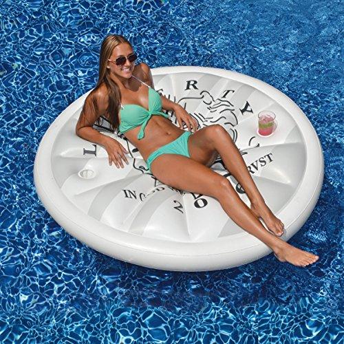 Swimline Silver Dollar Island Money Pool Float ()