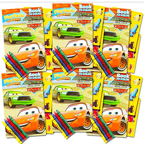 Crayon Party Favor Set (Disney Cars Ultimate Party Favors Packs -- 6 Sets with Stickers, Coloring Books and Crayons (Party Supplies))