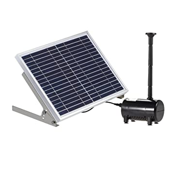 Anself 17V 10W Solar Power Water Pump for Garden Pond Fountains Landscape