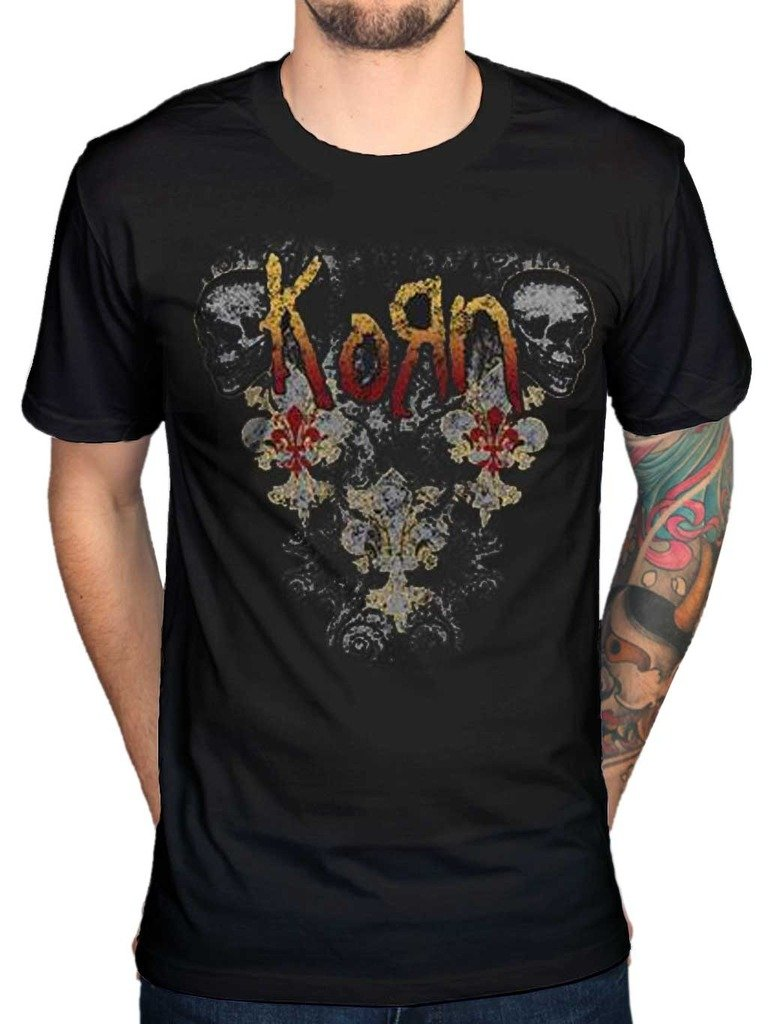 AWDIP Men's Official Korn Skulls T-Shirt Nu Metal Alternative Rock Music Band