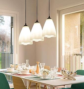 Za Pendant Lights Modern Simple Dining Table Hanging Lights Led 3 Flame Chandelier Hardware Glass Height Adjustable Bedroom Living Room Dining Room Ceiling Light Interior Lighting Amazon Co Uk Lighting